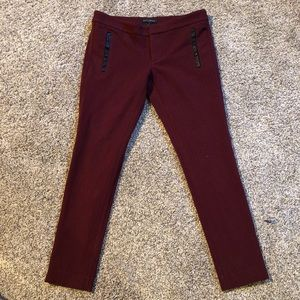 Banana Republic Sloan pant with leather trim